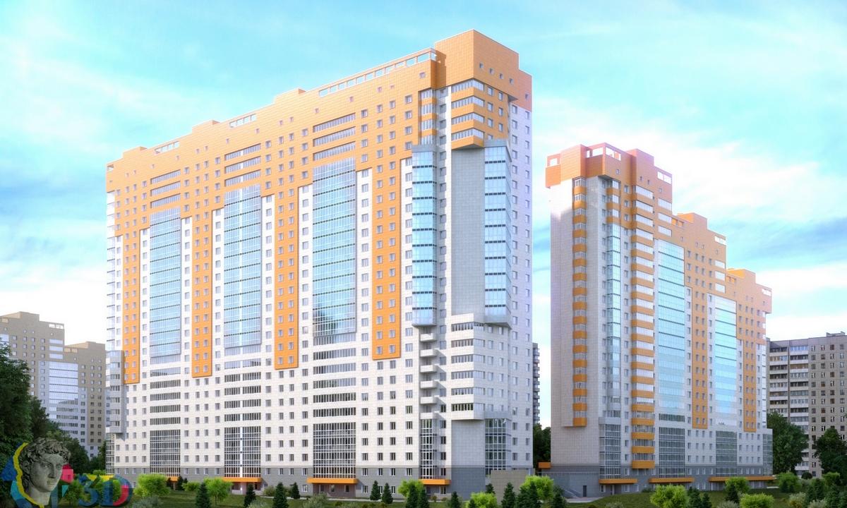 3д визуализация жилого комплекса и его благоустройства
