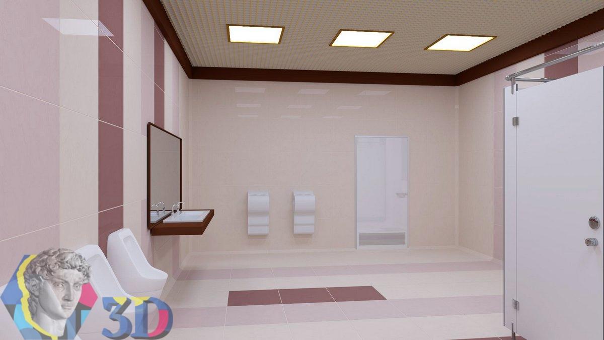 визуализация интерьера туалета