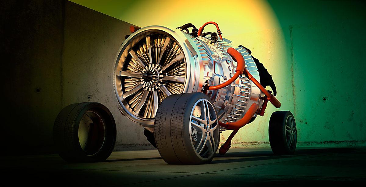 3D-модель набора механических деталей