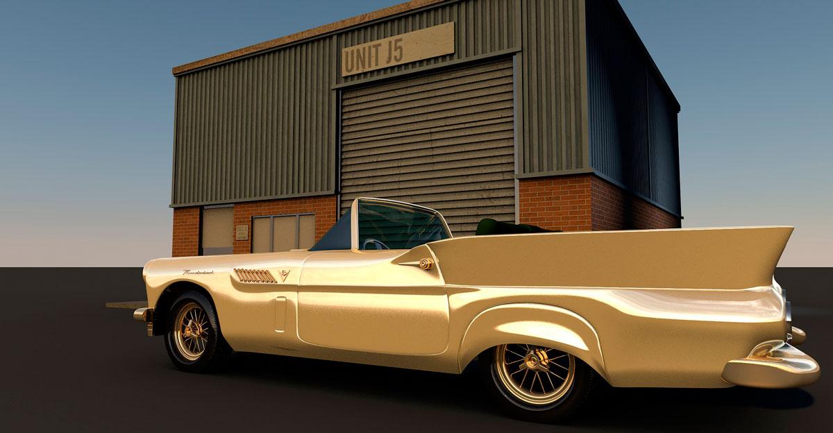 трехмерная визуализация автомобиля для игры