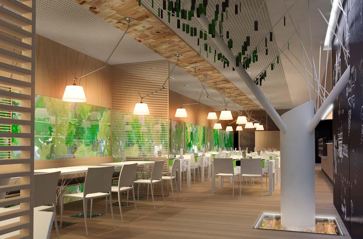 3д визуализация интерьера ресторана