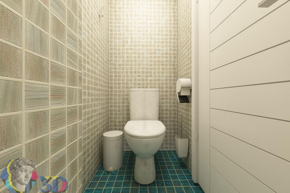 визуализация интерьера в 3d max для туалета медицинского центра