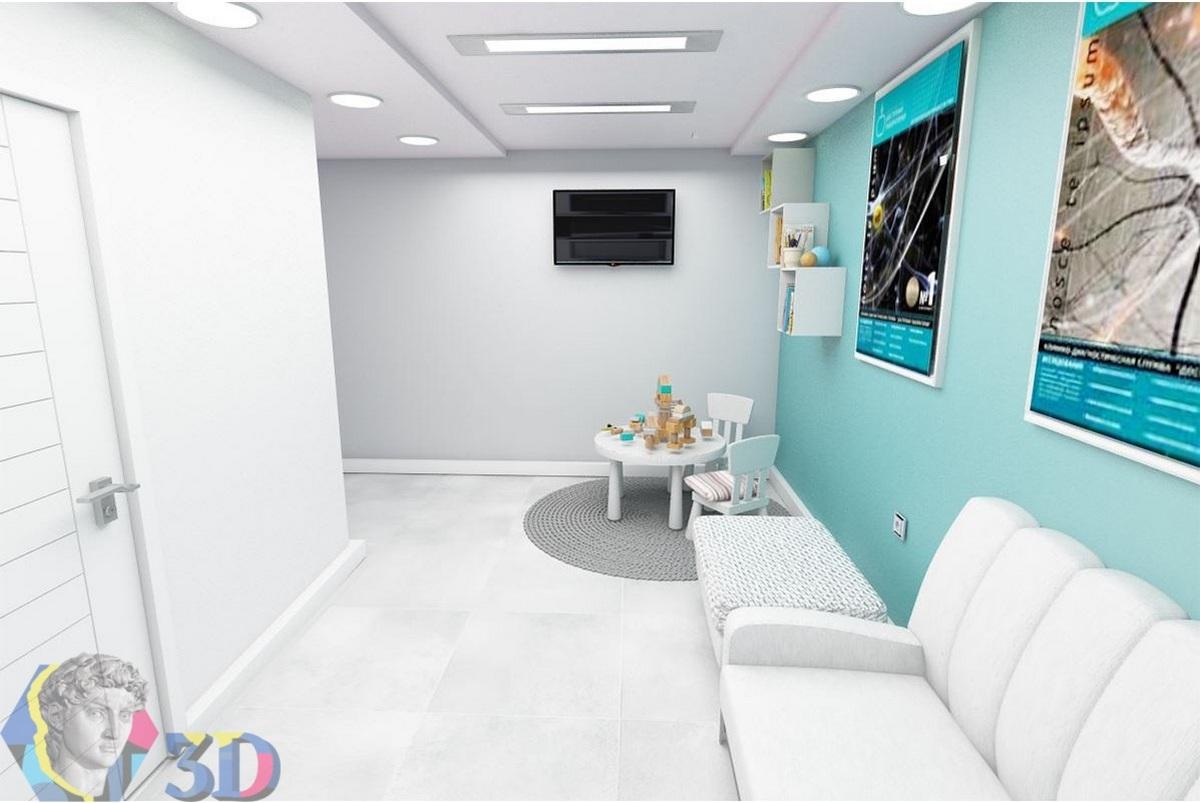 создание 3d визуализации интерьеров медицинского центра