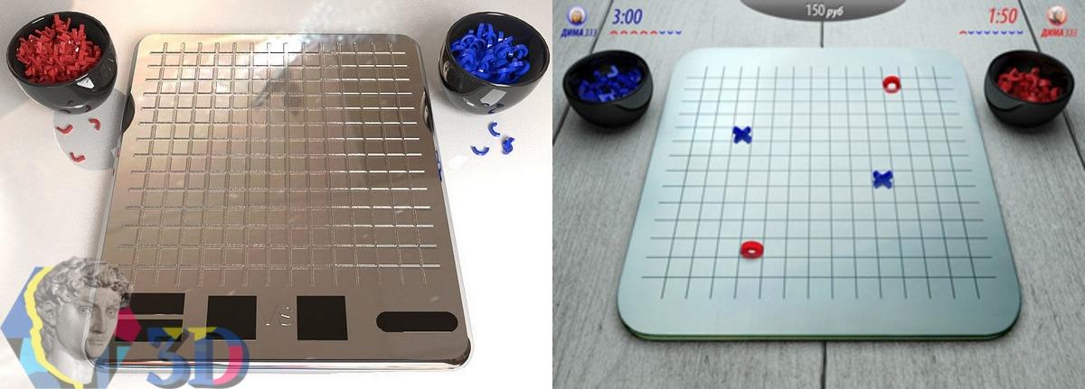 3D моделирование и графика для игры в крестики-нолики