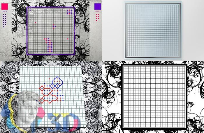 3d визуализация поля игры в точки