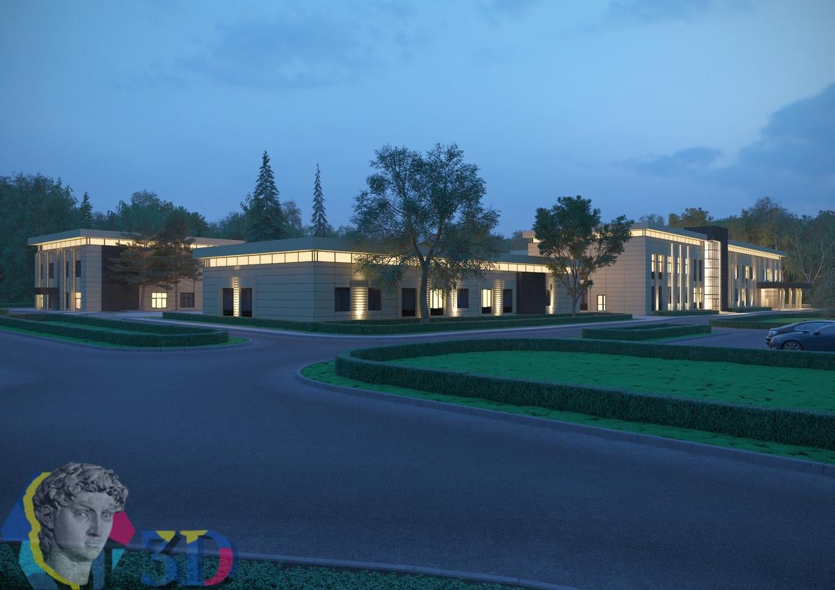 3D визуализация архитектурного освещение