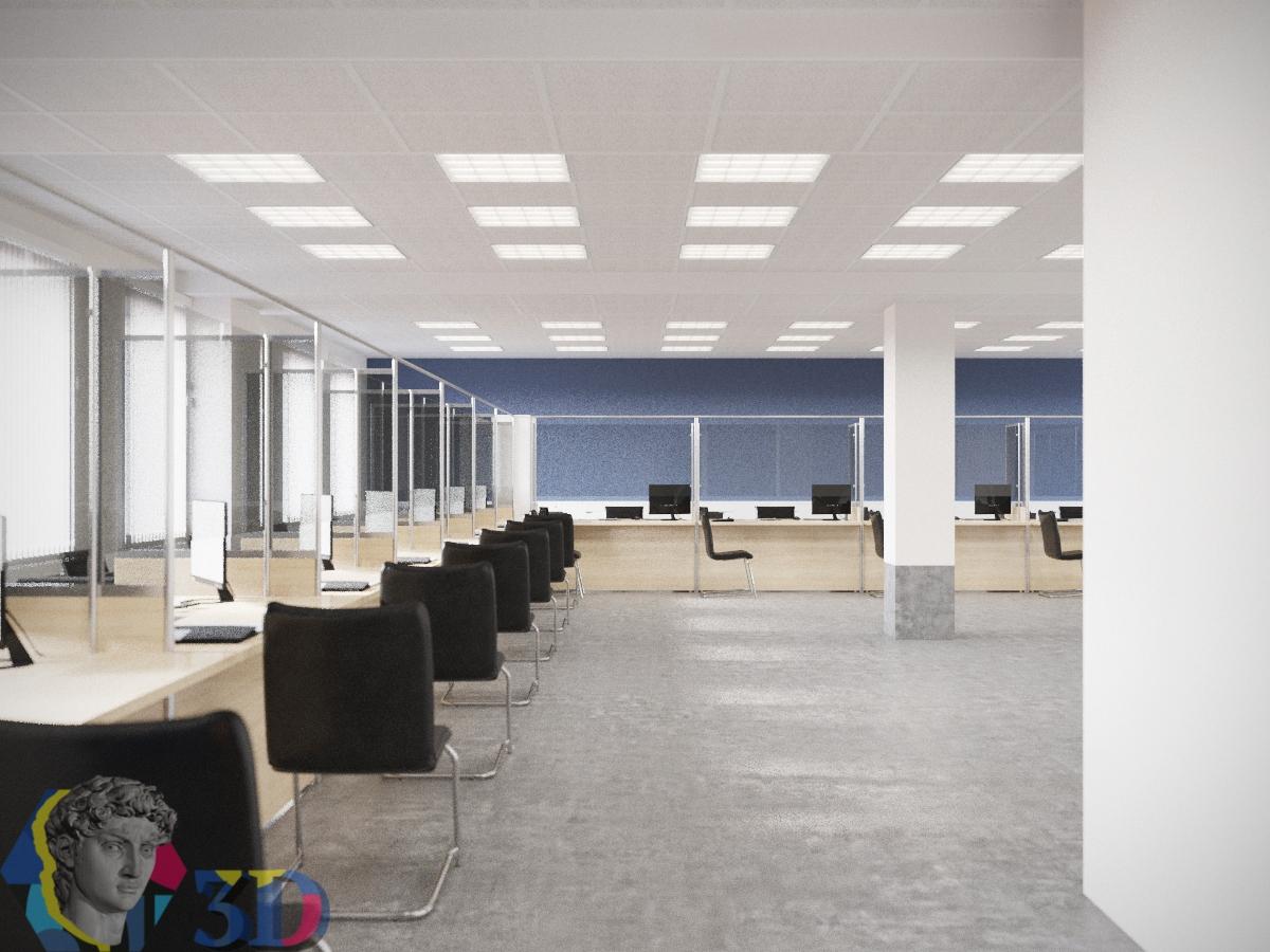 Интерьерная визуализация в 3d max для мест работы с клиентами