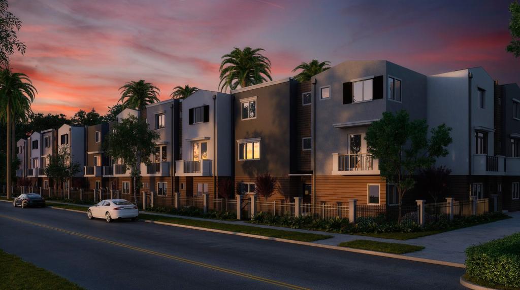 визуализация коттеджного поселка в Майами