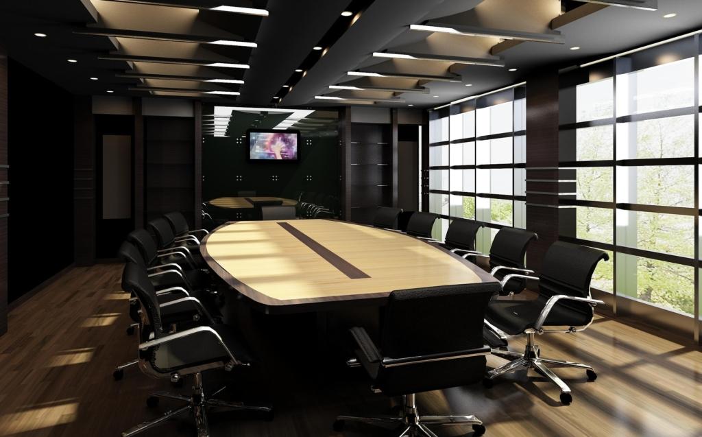 трехмерная визуализация офисного помещения