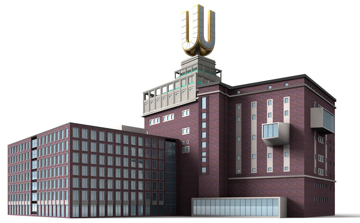 3D модель пивоварни Дортмунда в unity