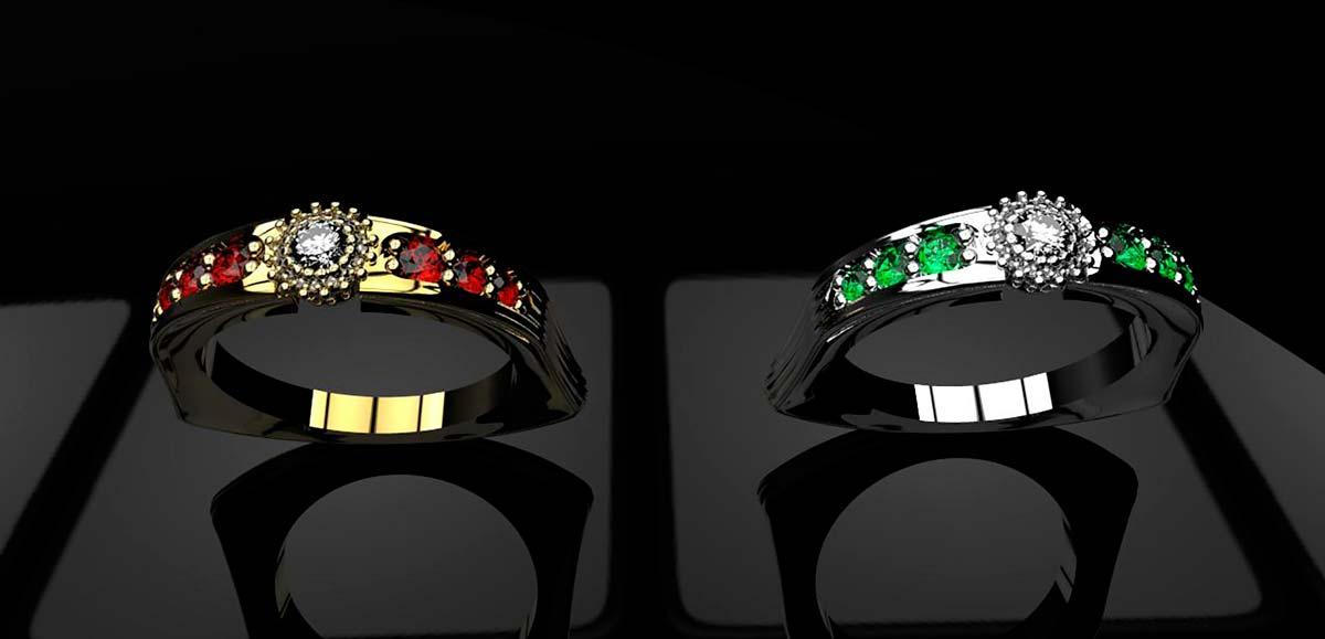 3d моделирование ювелирных украшений с камнями