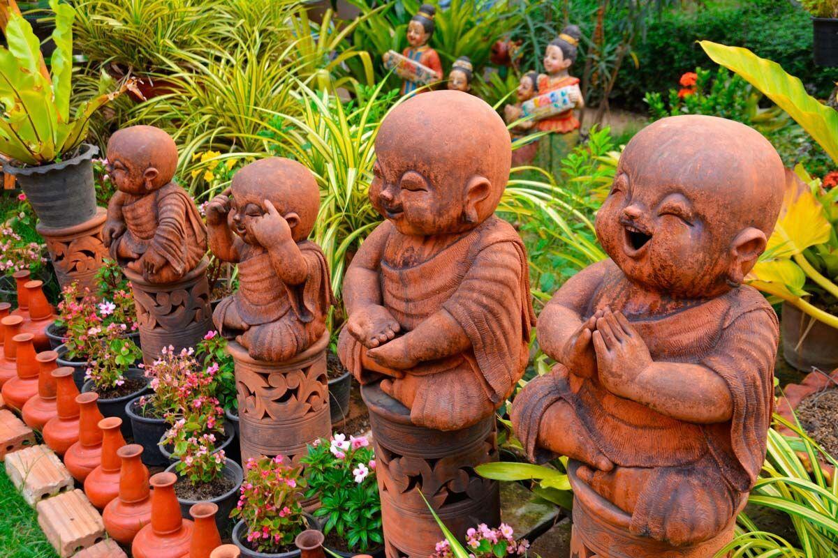 3d моделирование участка может потребовать проработки садовых скульптур