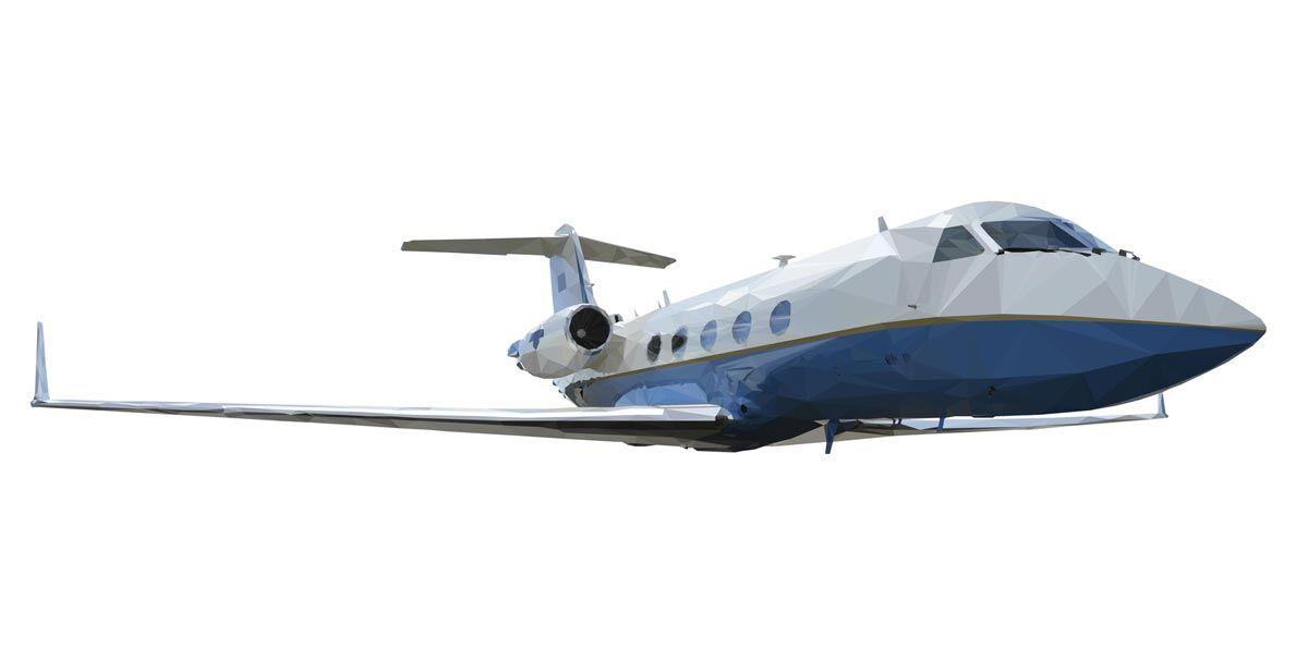Низкополигональная модель самолета