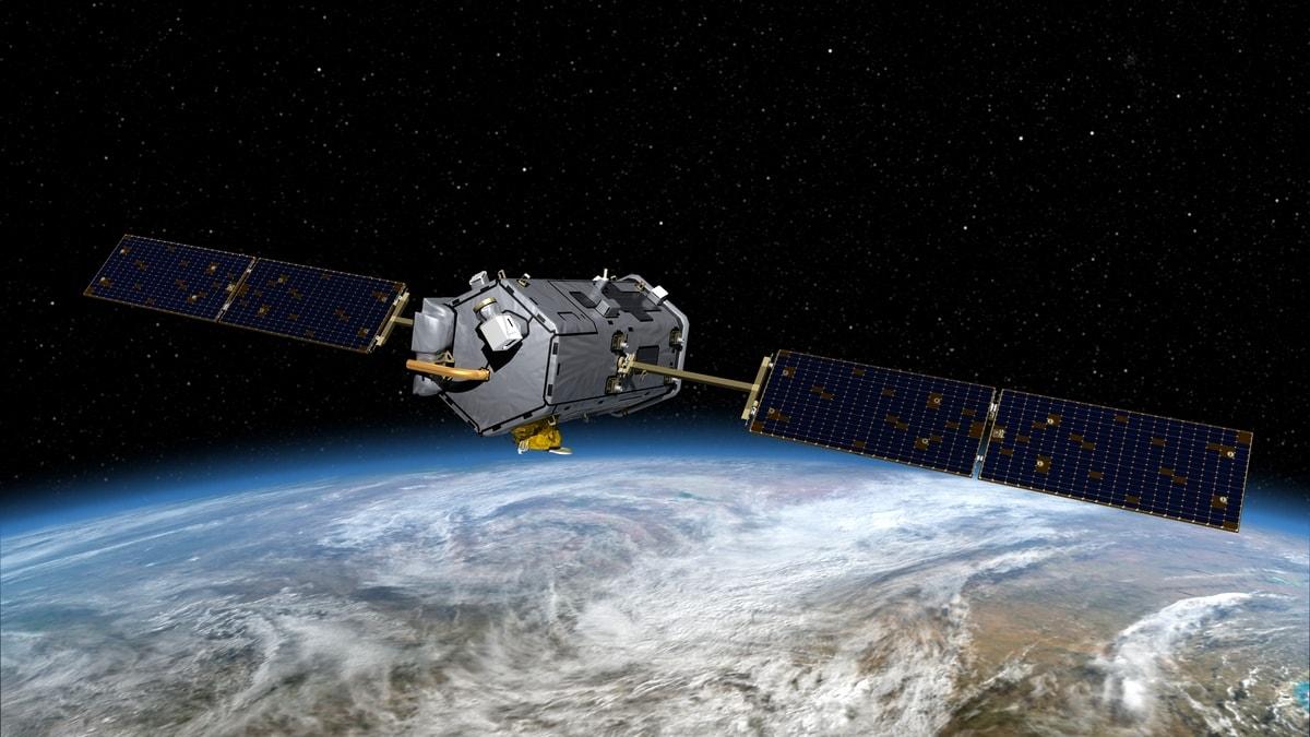 3d визуализация спутника