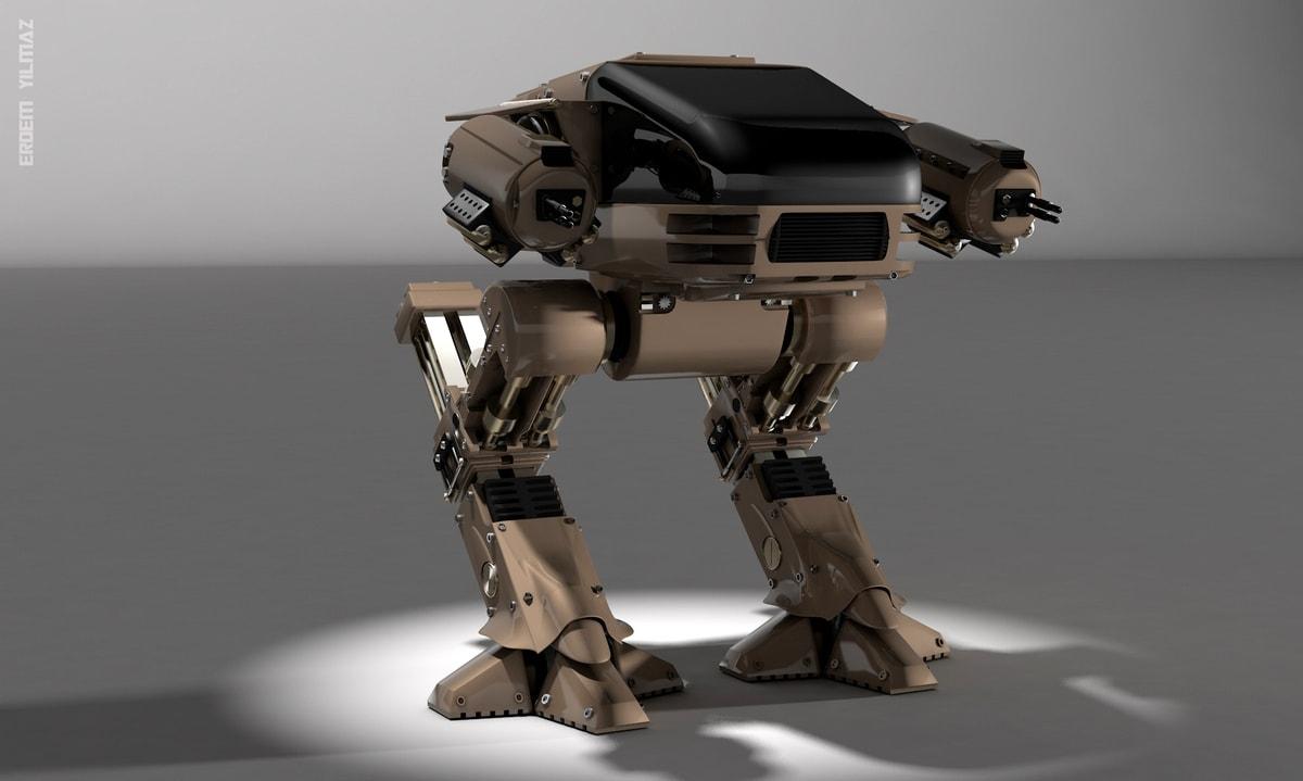 Если нужна модель робота, можно заказать визуализацию в 3d max